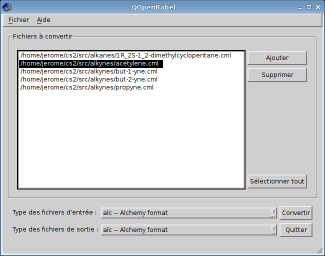 QOpenBabel screenshot